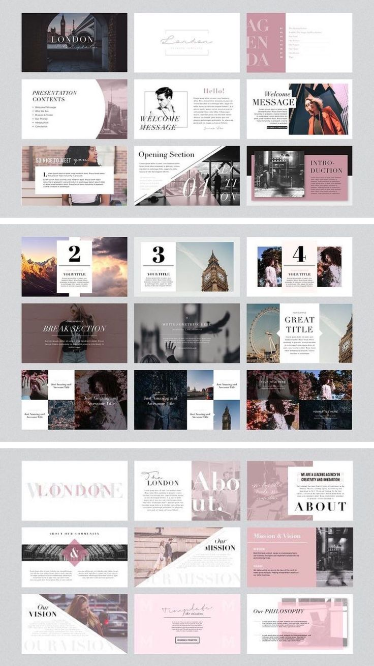 LONDON – POWERPOINT AND KEYNOTE TEMPLATE