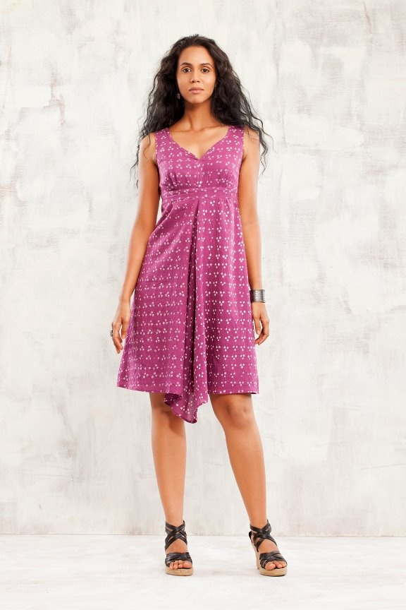 Rain Dress in pink-tobacco http://www.facebook.com/photo.php?fbid=10150735412098683=a.10150699661348683.394601.182996783682=3 #bandhani #pink #dress #empireline
