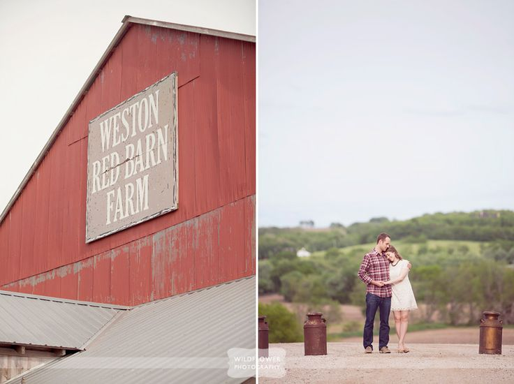the weston red barn farm in missouri is a great venue for an outdoor rustic