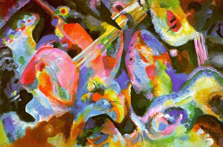 Improvisation Flood, huile sur toile de Wassily Kandinsky (1866-1944, Russia)