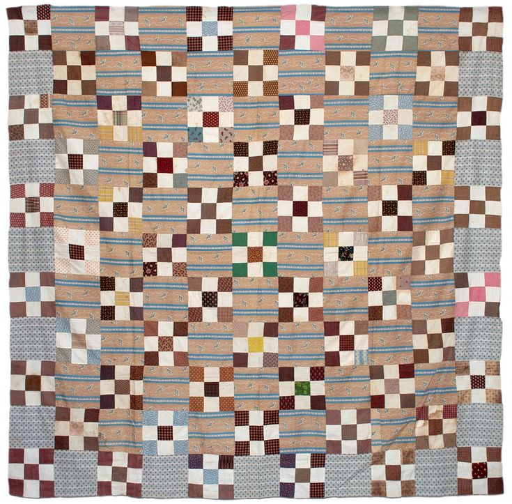 """""""Founding Father"""" art quilt wallhanging, c. 1976, Texas    Early 19th century quilt top with rare vibrant green patches  I've been finding..."""