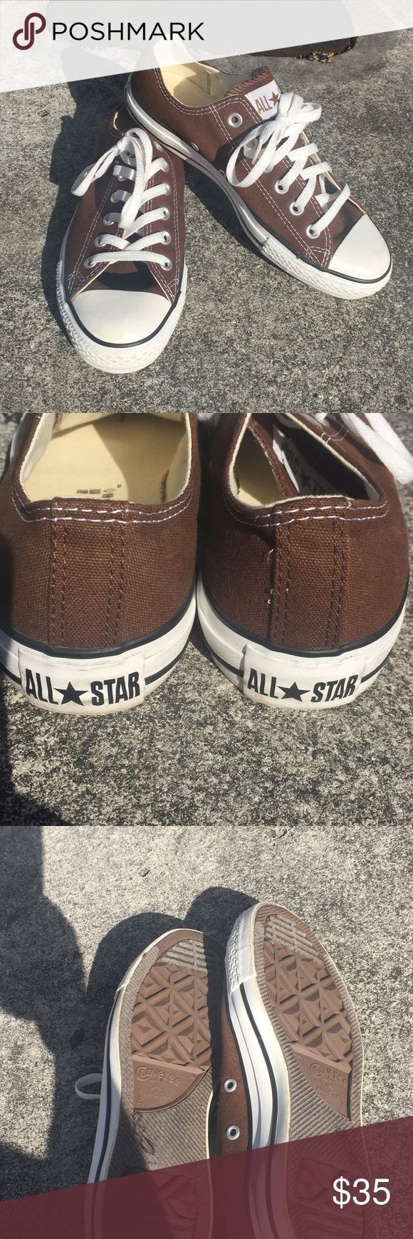 Like new brown converse Like new brown converse size 8 in women 6 in men. Converse Shoes Sneakers #sneakersconverse