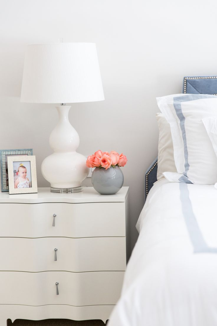 bedside white + soft blue