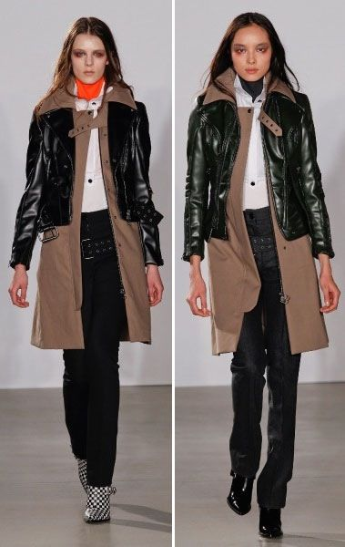 Try this Fall 2013 look now: Altuzarra's leather jackets layered over wool coats
