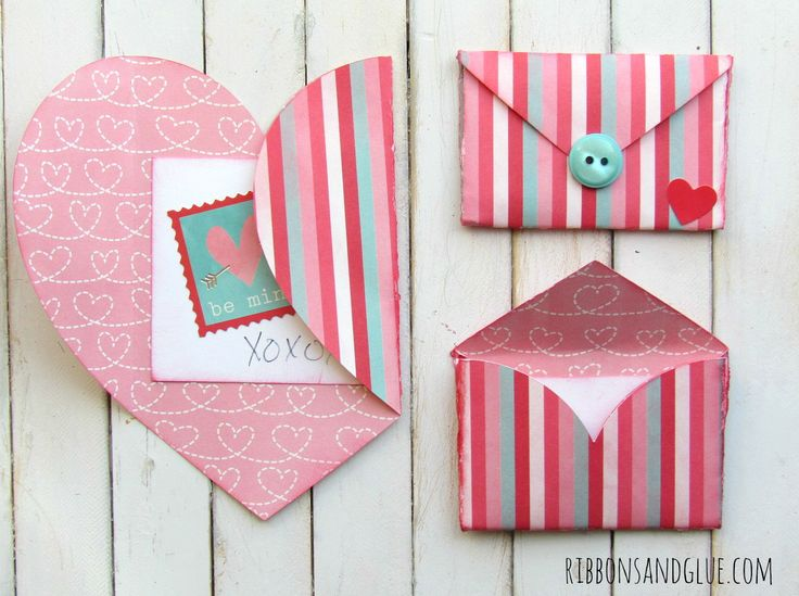 How to make a folded heart Valentine