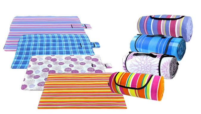 Buy Foldable Picnic Mat - 4 Colours UK deal for just: £15.99 Enjoy the summer with the Picnic Mat      Available in colour stripe, purple stripe, blue grid and purple flower      Small and lightweight, can easily be folded and transported      Also works as a beach mat or children crawl mat      Size: 150cm x 200cm    Buying Options        15.99 pound instead of 19.99 pound for 1 x Picnic Mat...