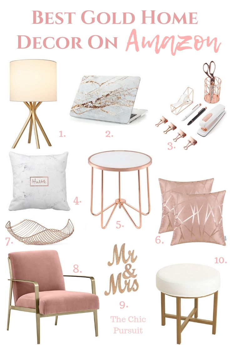 Best Gold Home Decor Finds On Amazon  The Chic Pursuit  Rose