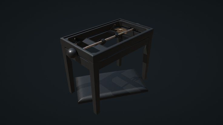 Piano bench. Modeled in Maya, textured in Substance Painter