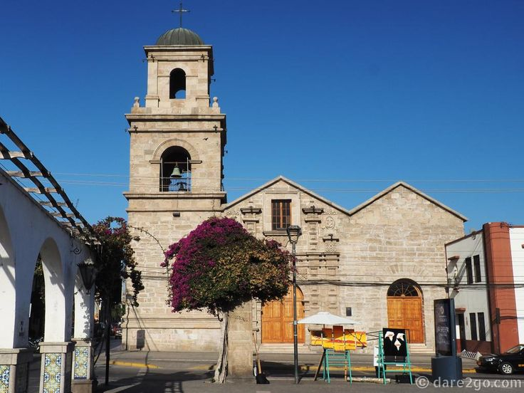 La Serena in Chile has a lovely, pedestrian friendly center. Many colonial style buildings and a building code ensuring that new structures blend in. This is the San Francisco church, oldest in town.