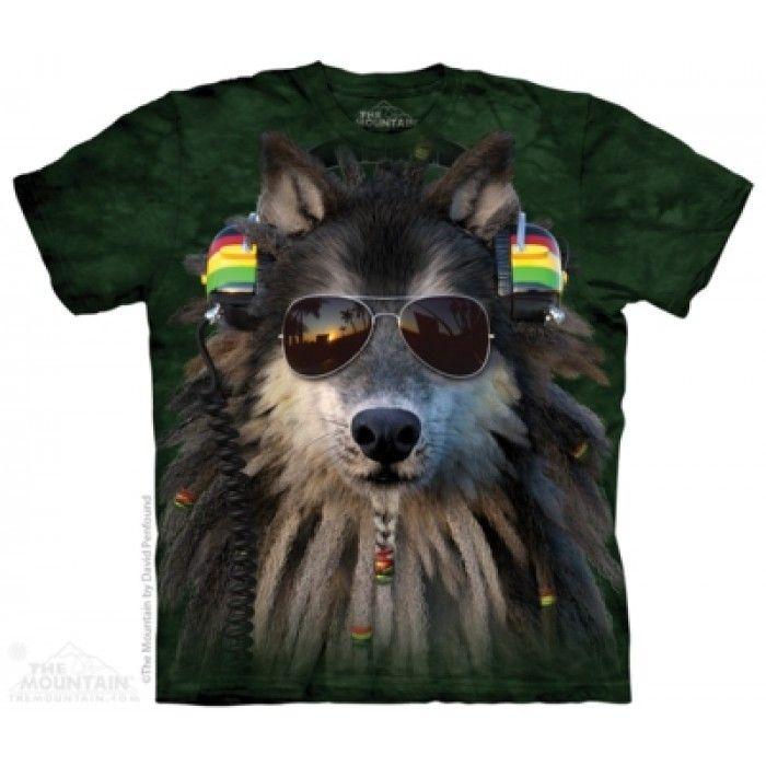 Tricouri The Mountain – Tricou Rasta Wolf