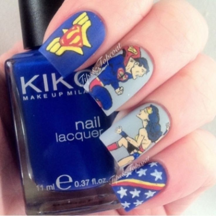 These Are the 31 Best Looking Superhero Nail Art Designs in the World . - 25+ Beautiful Superhero Nails Ideas On Pinterest Batman Nails