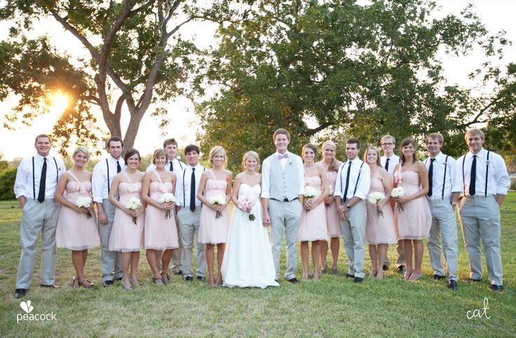 Nice bridesmaid and groomsmen fashion.
