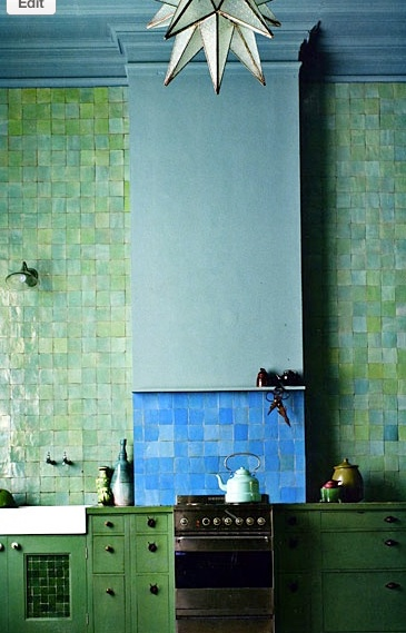 Green tile for kitchen or bath ... http://www.bathroom-paint.net/