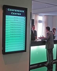 Hotel + Digital Signage: The Conference Center Display ...
