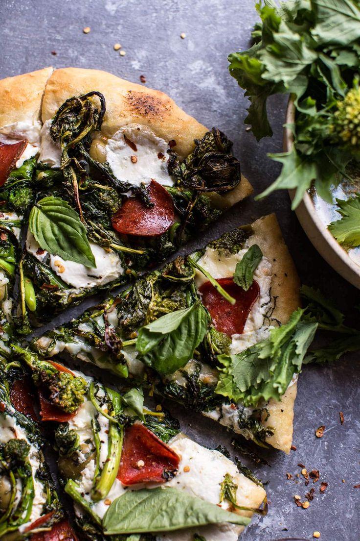 Broccoli Rabe Burrata Pizza   halfbakedharvest.com @hbharvest
