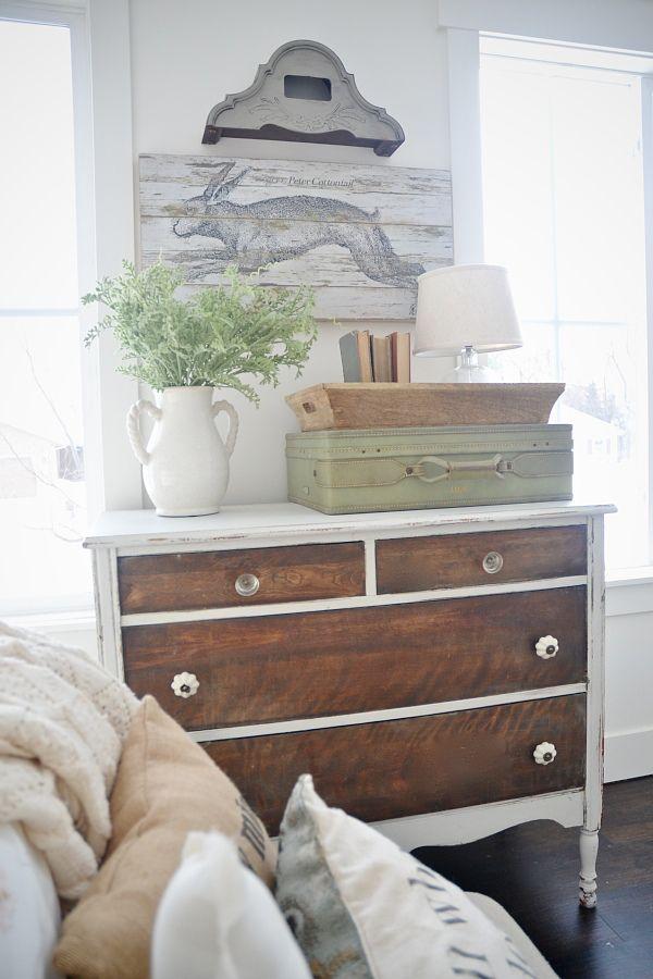 cozy guest bedroom vignette.