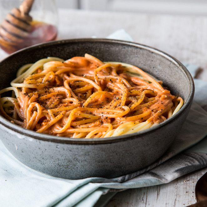 Süß und schnell: Spaghetti mit Honig-Tomatensauce