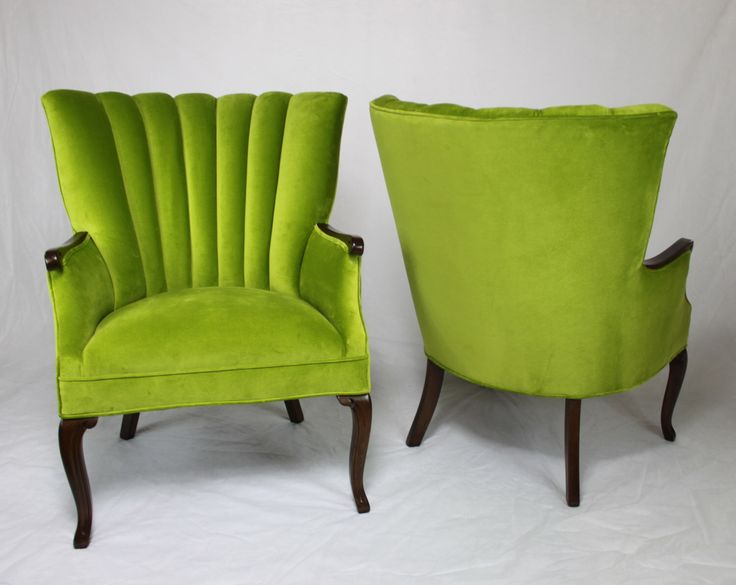 Sold Pair Of Vintage Antique Channel Back Chairs In