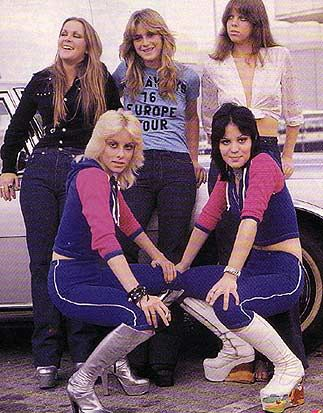 The Runaways (later part of the 70s) - Clockwise from top left: Lita Ford, Sandy West, Jackie Fox, Joan Jett and Cherie Currie