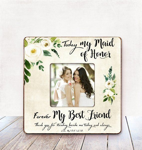 Bridesmaid Gift Wedding Thank You For Niece Aunt Frame Best Friend