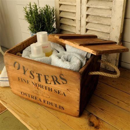Oyster Wooden Box · Antique Wooden BoxesStorage ...