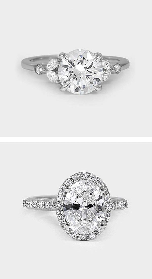 This feminine, nature-inspired ring features four dazzling marquise shaped diamonds elegantly accenting a center diamond in a claw prong basket setting. Bezel set accent diamonds sparkle from the shoulders