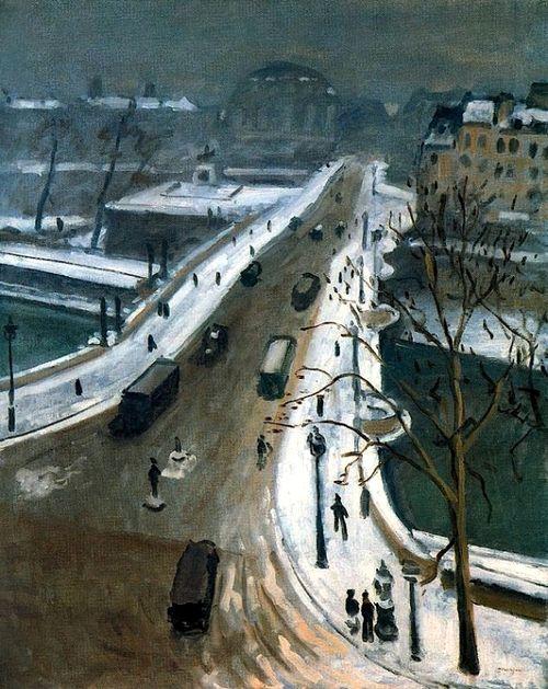 bofransson:  Le Pont-Neuf sous la neige Albert Marquet