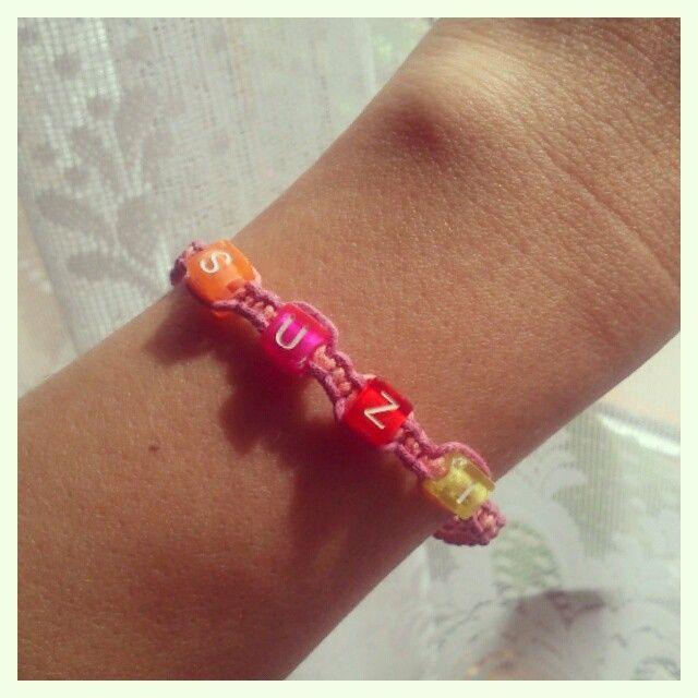 Macrame bracelet with my nickname