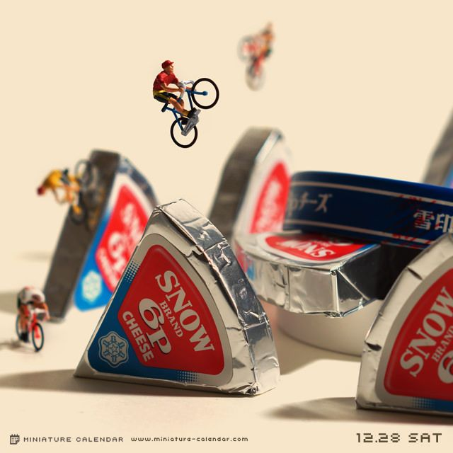 Bike trial Edible Miniature Worlds Miniature photography
