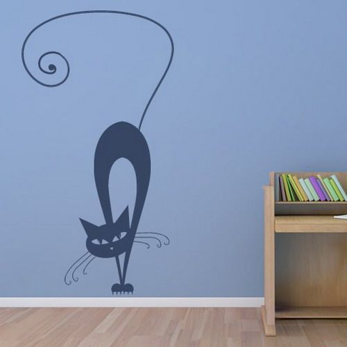 Cat Wall Stickers And Painting Ideas For Decorating Empty Walls