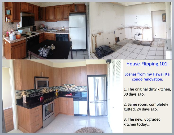 House Flipping In Hawaii   Kitchen Renovation. Before, During, And After  Pictures Of 1 Of My Current House Flips. | Flipping Houses | Pinterest |  Kitchens ...