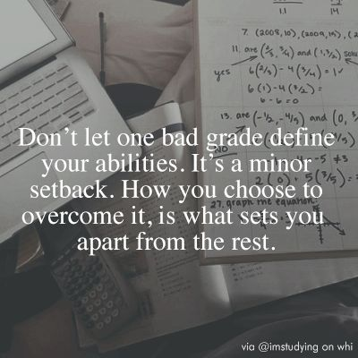 Bad grades don't define you ♡ on We Heart It