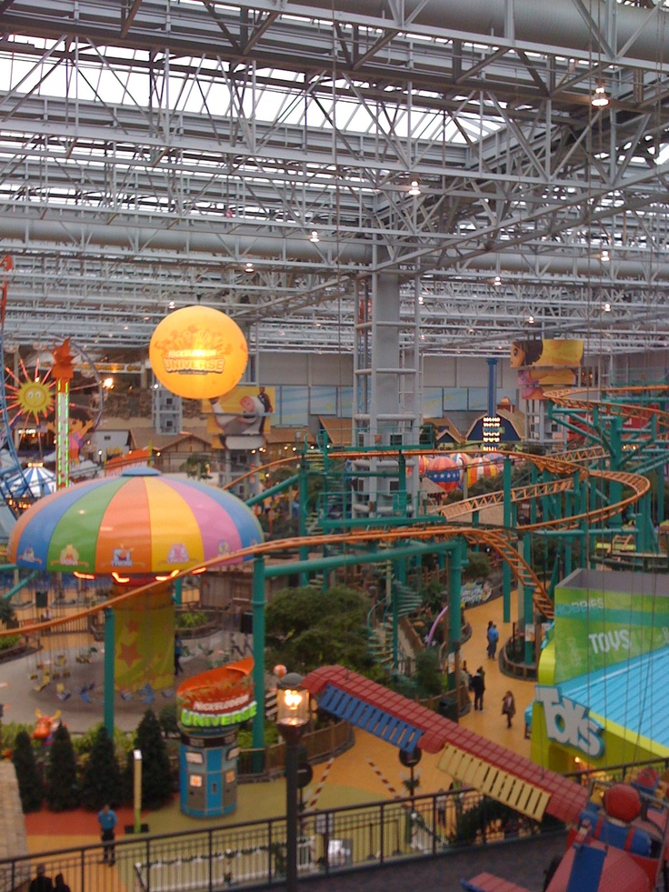 Nickelodeon Universe, Mall of America, Bloomington, MN (What kid doesn't love the biggest mall in the country!)