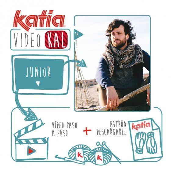 Katia VideoKAL: pañuelo para hombre tejido con Junior | http://www.katia.com/blog/es/katia-videokal-panuelo-para-hombre-tejido-junior/