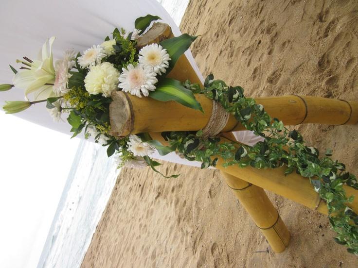 Tropical Wedding Flowers-Zipolite, Mexico- Photos by Tina Winterlik © 2012
