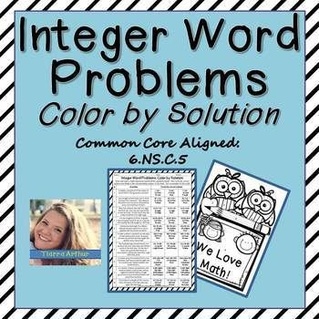 Perfect activity to supplement your lesson on Integers. Use as a whole group activity, small group even centers!  Great component to academic practice (homework) and checking for comprehension of ability to write math expressions from word problems and properly solving for the solution.