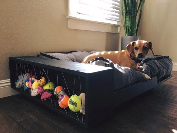 This is an amazing sleek and modern pet bed. Looks like its floating, but dont fret, this bed is sturdy and built for large or small pets and can
