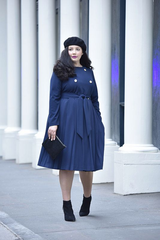 d01a0619cda12 Girl With Curves X Lane Bryant Collection Pleated Trench Dress Via   GirlWithCurves  GWCxLB