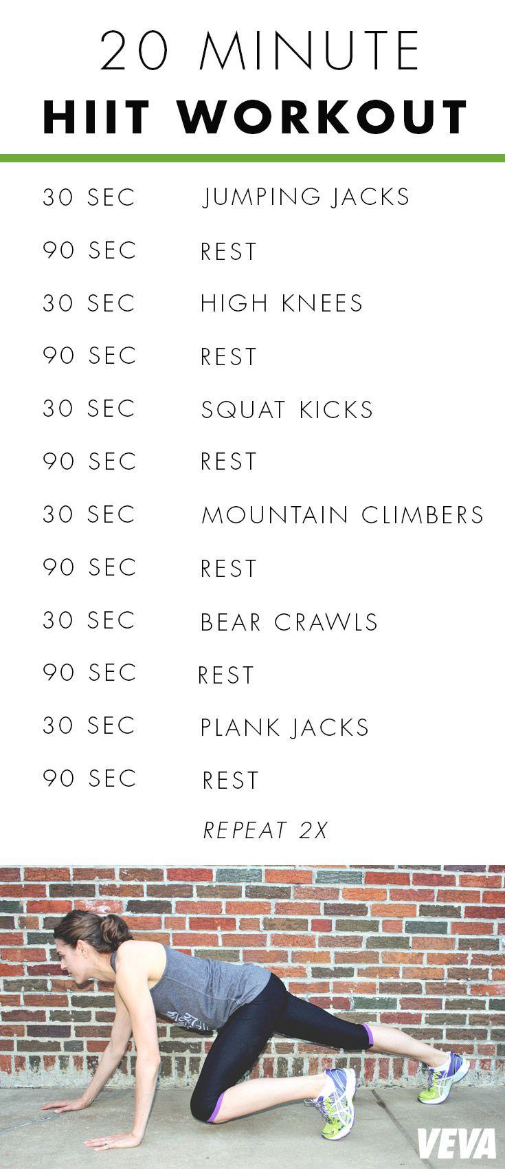 20 Minute HIIT Workout   Veva