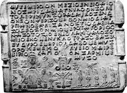 Daco Geta writing Sinaia tablet