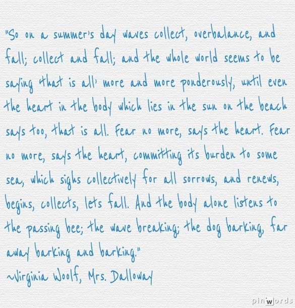 mrs dalloway key quotes Mrs dalloway is a novel by virginia woolf that details a day in the life of clarissa  dalloway,  shell shock, or post traumatic stress disorder, is an important  addition to the early 20th century  wikiquote has quotations related to: virginia  woolf.