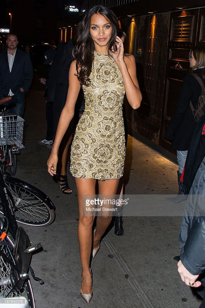Model Lais Ribeiro arrives at the 2013 Victoria's Secret Fashion Show after party at Tao Downtown on November 13, 2013 in New York City.
