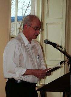 Chris Pannell reads from A NERVOUS CITY at the Workers Arts and Heritage Centre in Hamilton. Photo credit: Janice Jackson