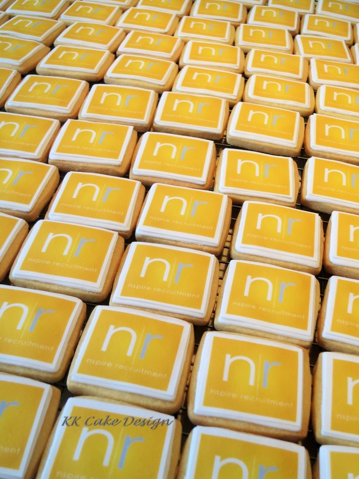 Corporate cookie order for Nspire Recruitment. Cookies waiting to be individually wrapped