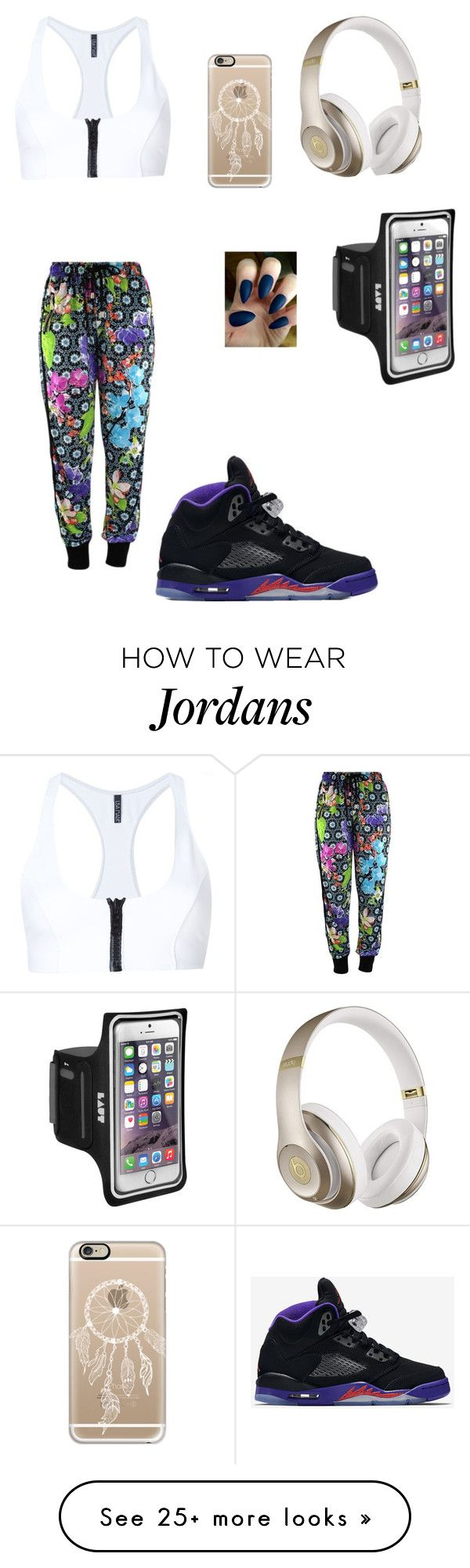 """WWE Book Day 2 Workout"" by rachmiller417 on Polyvore featuring Lisa Marie Fernandez, NIKE, Beats by Dr. Dre and Casetify"