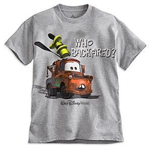 Tow Mater Tee for Boys - Walt Disney World   Disney StoreTow Mater Tee for Boys - Walt Disney World - Tune-up the fun with Tow Mater and his soft, comfy heathered jersey knit tee, direct from Walt Disney World Resort.