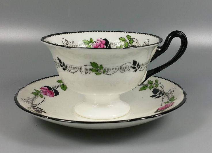 Shelley Pattern Number 11190 Tea Cup and Saucer Perfect   eBay
