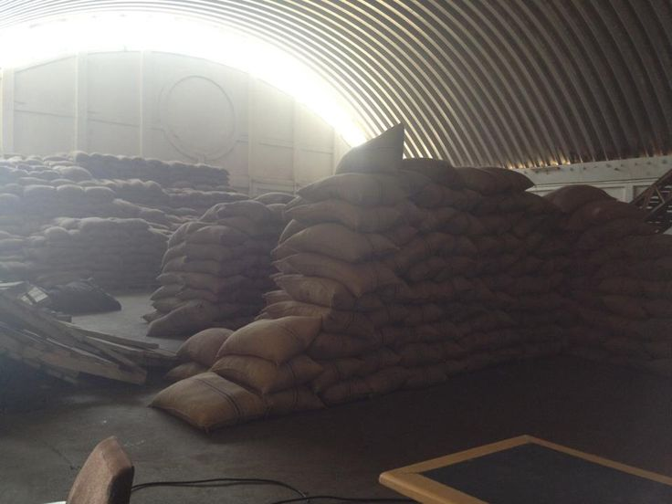 Cocoa beans in storage ready to sail across the world.