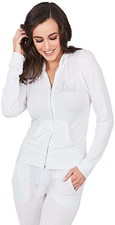 Betsey Johnson Kiss The Bride French Terry Hoodie