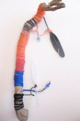 Native American Talking Stick - used to signify who has the right to speak during sacred council ceremonies and meetings - use in morning circle: Peace Rose, Native American